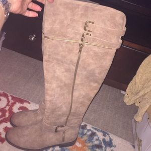 Taupe Tall Boots